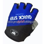 2017 Team QUICK STEP Cycling Gloves Mitts Half Fingers Blue Black