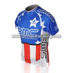 2010 Team BMC HINCAPIE Cycling Jersey Maillot Shirt Blue Red