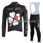 2010 Team FDJ Cycling Long Bib Suit Black