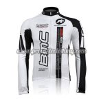2010 Team BMC Cycle Long Jersey Maillot Shirt White Black