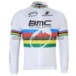 2011 Team BMC UCI Champion Cycling Long Jersey White Rainbow