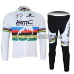 2011 Team BMC UCI Champion Cycling Long Suit White Rainbow