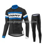 2017 Team GIANT Cycling Long Suit Black White Blue