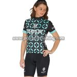 2017 Team BIANCHI Womens Biking Kit Black Blue Flower