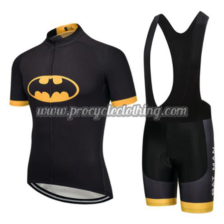 2017 Team BAT MAN Batman Riding Wear Cycle Jersey and Padded Bib ... 4e822e07c