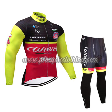 2018 Team Wilier Biking Wear Cycle Long Jersey and Pants Tights ... dde5664b5