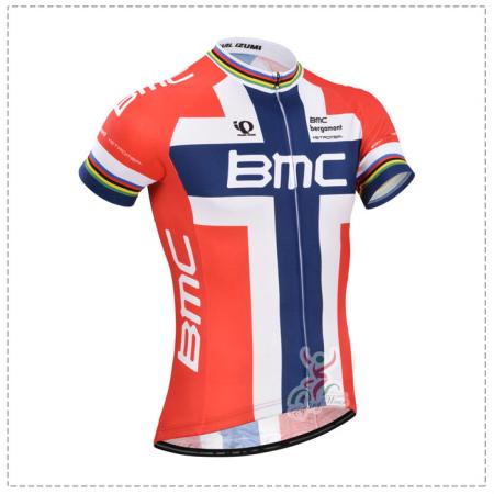 2014 Team BMC Pro Cycling Clothing Bike Jersey Red Blue Cross ... 9ecfbc1e1