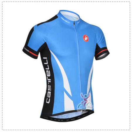 13026f3e2aa55 2014 Team Castelli Riding Clothing Bike Jersey Blue White ...