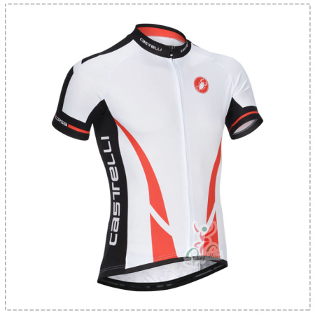 bde96ee275e1d 2014 Team Castelli Riding Clothing Bike Jersey White Red ...