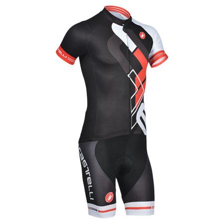 2014 Team Castelli Bike Clothing Set Cycle Jersey and Shorts Black ... 692356293