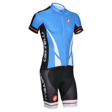 b8d0fd0372714 2014 Team Castelli Bike Clothing Set Cycle Jersey and Shorts Blue ...