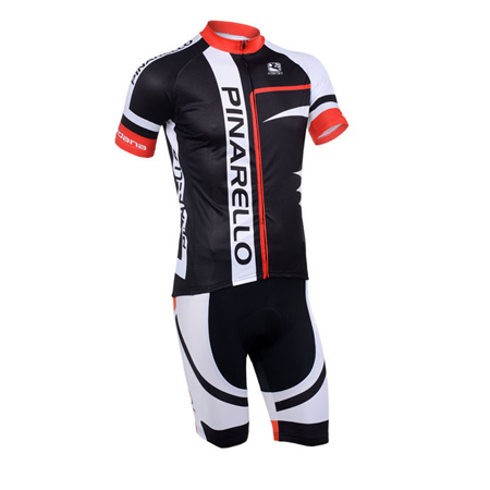 2013 Team PINARELLO Pro Bike Wear Cycle Jersey and Shorts Black Red ... c4afcbc2e