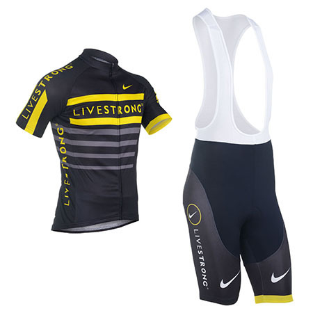 6b545e89c 2013 Team LIVESTRONG Pro Cycle Apparel Biking Jersey and Bib Shorts ...