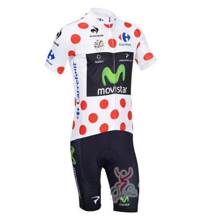 9864bca3e 2013 Team Movistar Tour de France Pro Riding Clothing Bike Polka Dot ...