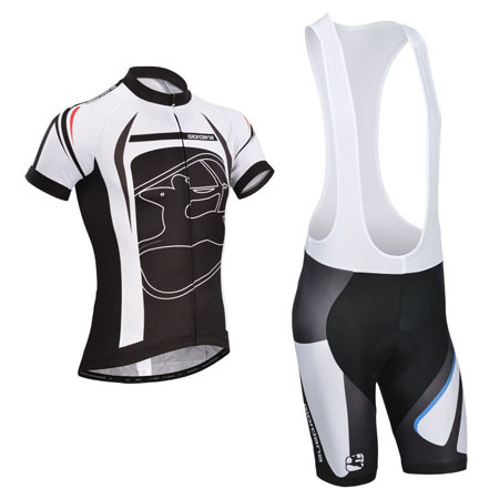 2014 Team Giordana Riding Wear Set Cycle Jersey and Bib Shorts Black ... 3054e35b8