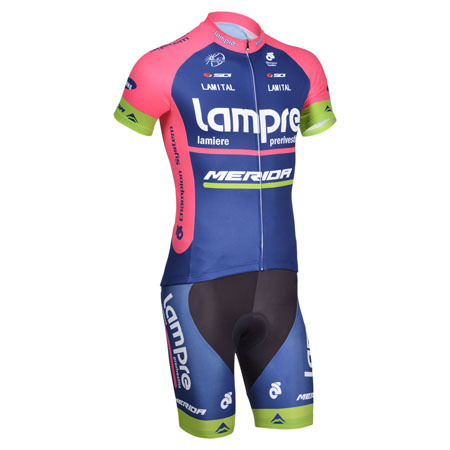 2014 Team Lampre MERIDA Riding Clothing Set Cycle Jersey and Shorts ... 02e103c43