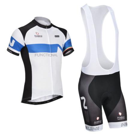 cdf872a4a 2014 Team NALINI Riding Wear Set Cycle Jersey and Bib Shorts White ...