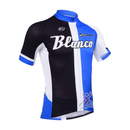 d82cdfad6 2013 Team BLANCO Pro Cycling Clothing Bike Jersey Blue Black ...