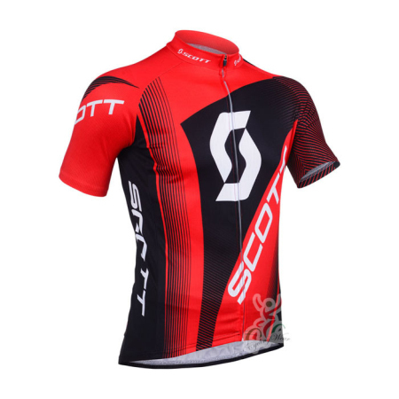 2013 Team SCOTT Pro Riding Clothing Biking Jersey Red Black ... cf0606a1d