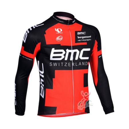 2013 Team BMC Pro Bike Clothing Cycle Long Jersey Red Black ... 72d7b46f3