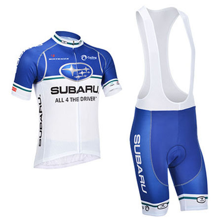 2013 Team SUBARU Pro Bike Wear Cycle Jersey and Bib Shorts Blue ... bcc9db3a9