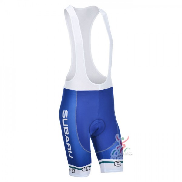 2013 Team SUBARU Pro Bike Wear Riding Bib Shorts Blue White ... b26add587
