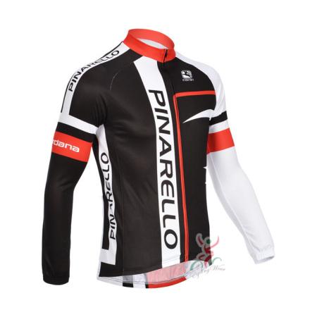 2013 Team PINARELLO Pro Bicycle Clothing Riding Long Jersey Black ... e0fdb6559