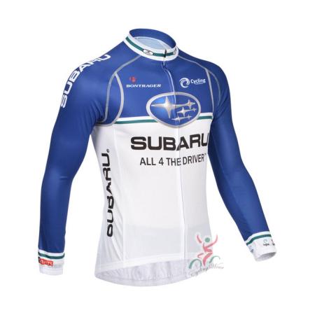2013 Team SUBARU Pro Bicycle Clothing Riding Long Jersey Blue White ... ea80e50c2