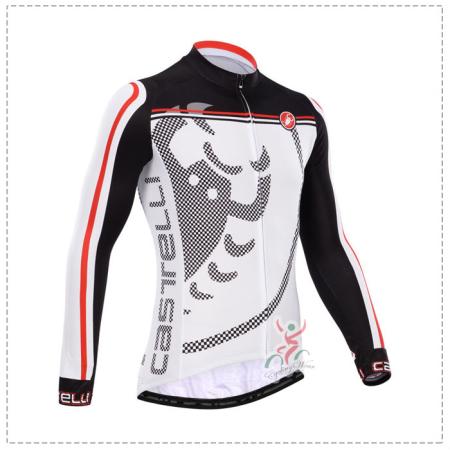 2014 Team Castelli Pro Riding Outfit Cycle Long Jersey Black White ... 7e654e00b