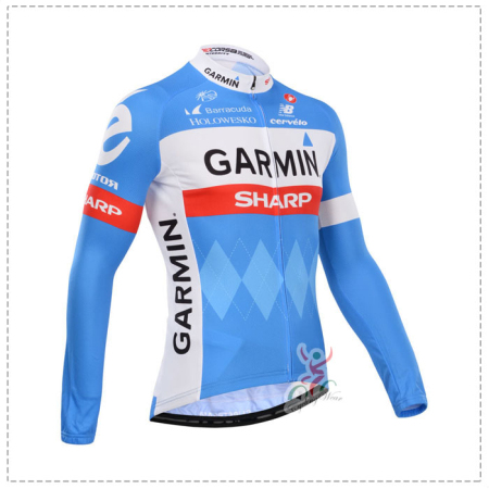 bc3fba0a7 2014 Team GARMIN Pro Winter Riding Outfit Thermal Fleece Cycle Long ...