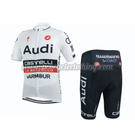 9d86286c6 2015 Team Audi Pro Riding Apparel Cycle Jersey and Shorts White ...