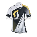 ef5486023 2014 Team SCOTT Pro Riding Apparel Summer Winter Cycle Shirt Jersey Black  White Yellow