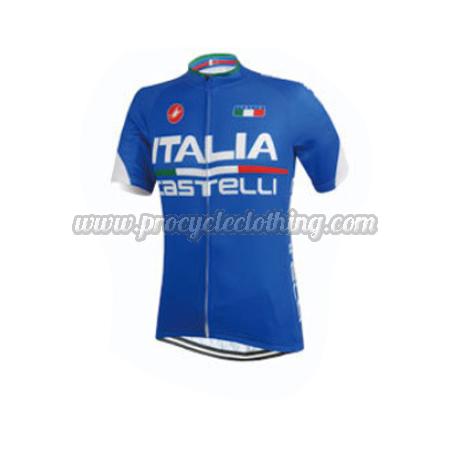 2015 Team ITALIA Castelli Pro Biking Clothing Riding Jersey Blue ... ab6a321a8