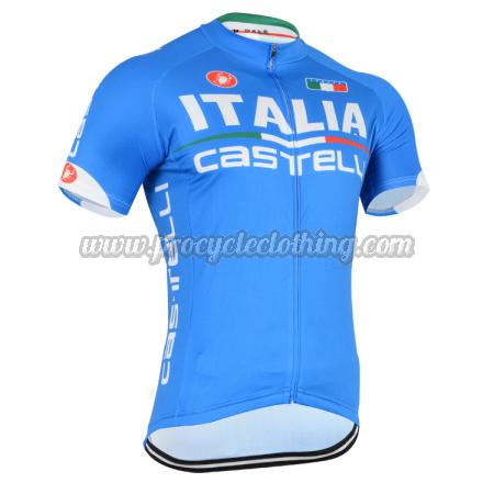2014 Team ITALIA Castelli Pro Bicycle Apparel Riding Jersey Blue ... 0ad2f5a08