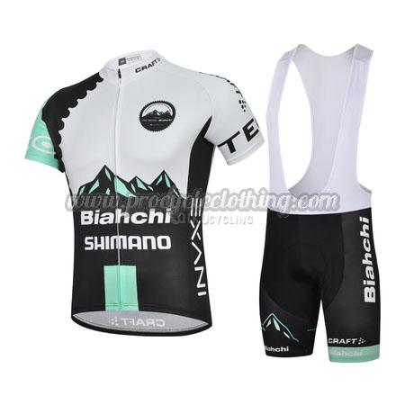 2491b3541 2015 Team Bianchi SHIMANO Pro Bike Wear Cycle Jersey and Bib Shorts ...