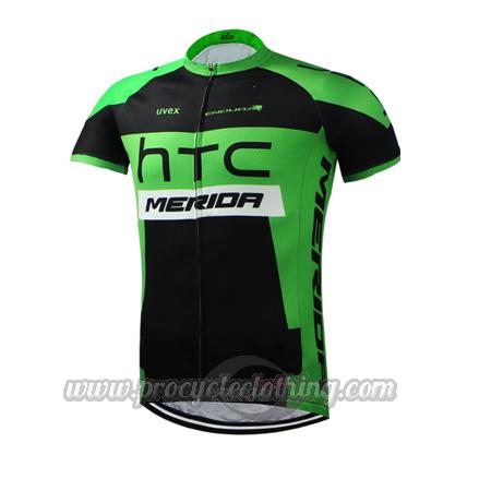 3ef487daa 2015 Team HTC MERIDA Pro Bicycle Apparel Riding Jersey Black Green ...