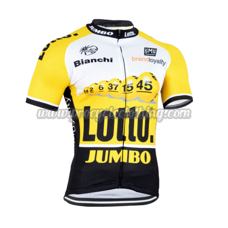 2015 Team LOTTO JUMBO Cycling Jersey Yellow