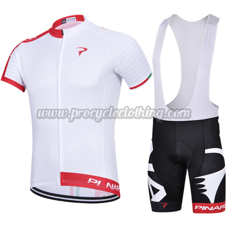 2015 Team PINARELLO Pro Bike Wear Cycle Jersey and Bib Shorts White ... e30c4de7d