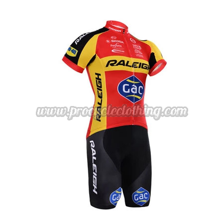 4051655e1 2015 Team RALEIGH Pro Bike Clothing Set Cycle Jersey and Shorts Red ...