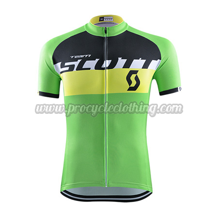 2015 Team SCOTT Pro Bicycle Apparel Riding Jersey Green ... e4b107a91
