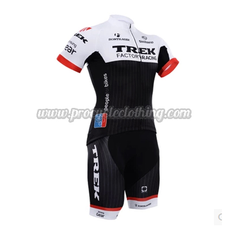 2015 Team TREK Pro Bike Clothing Set Cycle Jersey and Shorts White ... 1b7802488