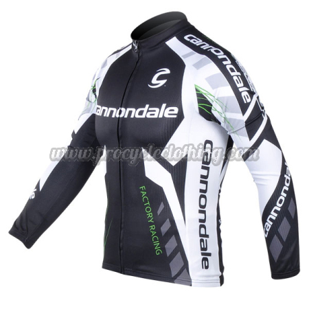 c0c8ee291 2012 Team Cannondale Cycling Long Sleeve Jersey Black White · 2012 Team  Cannondale Factory Racing Long Sleeve Jersey Black White ...