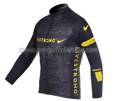 2012 Team LIVESTRONG Cycling Long Sleeve Jersey Black · 2012 Team  LIVESTRONG Cycle Long Sleeve Jersey Black ... 8cbb853ba