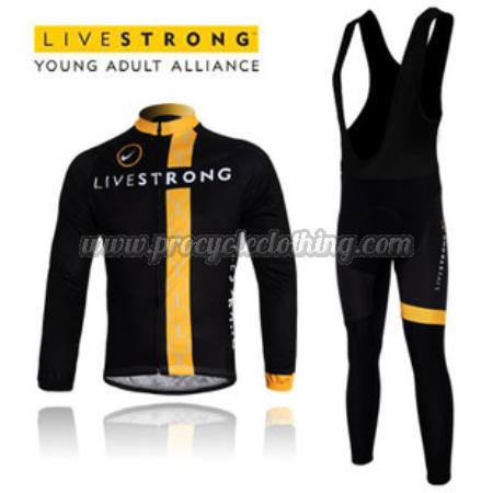 2012 Team LIVESTRONG Pro Winter Biking Apparel Suit Thermal Fleece ... 1a96cf2c6