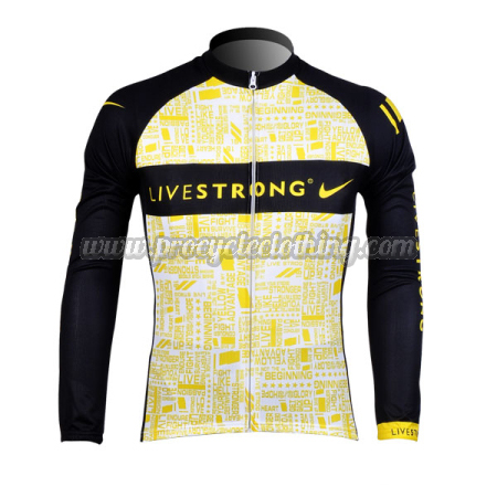 2012 Team LIVESTRONG Pro Winter Riding Outfit Thermal Fleece Cycle ... 5a4bc7706