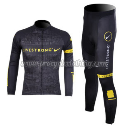 a1b376e53 2012 Team LIVESTRONG Pro Winter Riding Outfit Thermal Fleece Cycle ...