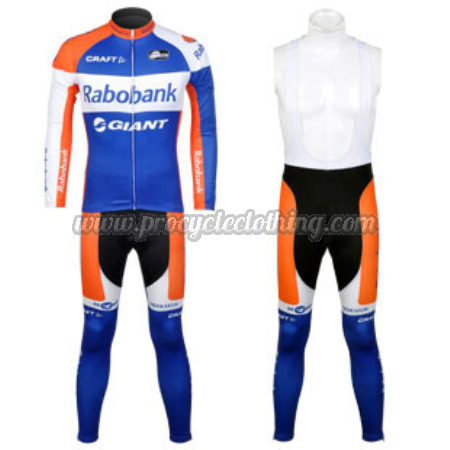 2012 Team Rabobank Pro Biking Apparel Suit Cycle Long Jersey and Bib ... 0f92a15f0