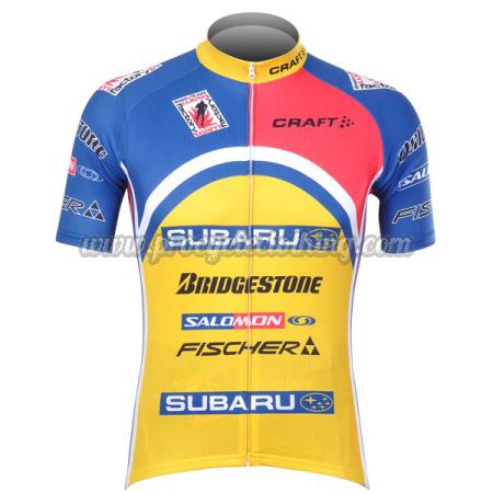2012 Team SUBARU Pro Bicycle Apparel Riding Jersey Yellow Blue ... 59a860c3a