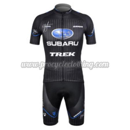 2012 Team SUBARU Pro Bike Clothing Set Cycle Jersey and Shorts Black ... 63ead8ec2