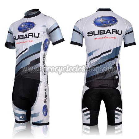 2011 Team SUBARU Pro Bike Clothing Set Cycle Jersey and Shorts White ... 977ad8c5d
